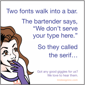 Two fonts walk into a bar...