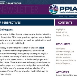 The World Bank, PPIAF